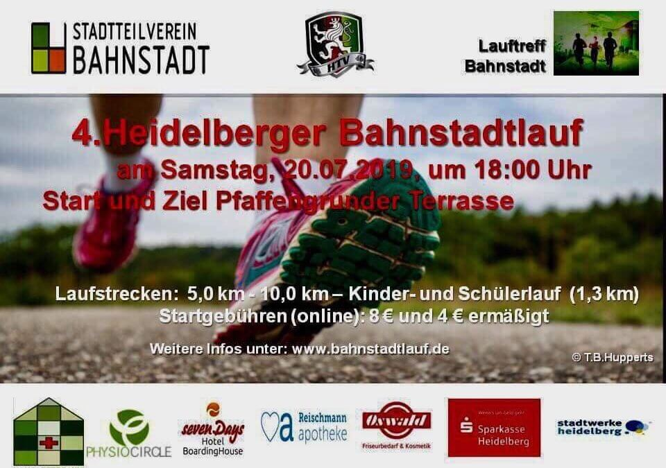 4. Bahnstadt-Lauf: 20.7.2019