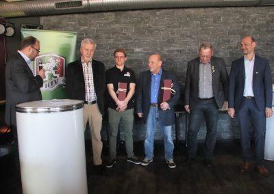 Hamers, Nykiel, Dörner, Sauter - besondere Verdienste