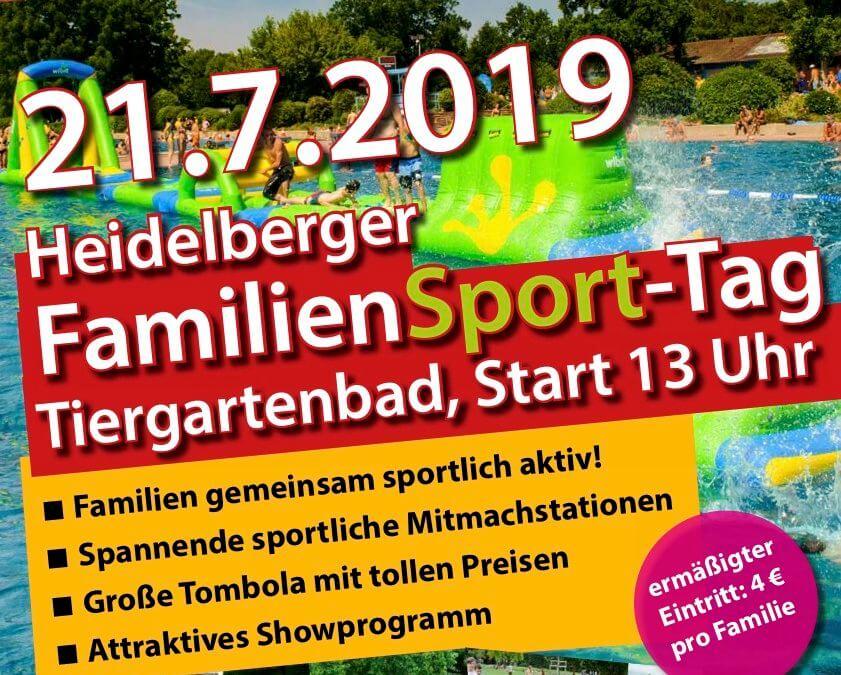 Familiensporttag am 21.07.2019 im Tiergartenbad